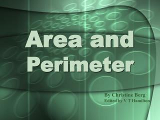 Area and Perimeter