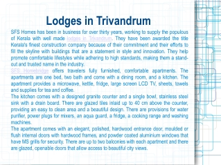 Lodges in Trivandrum