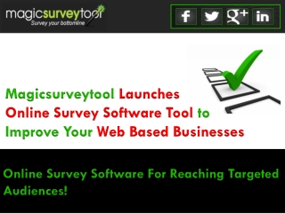 Online Survey Software - An Effective Tool to Improve Your W