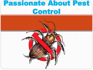 PASSIONATE ABOUT PEST CONTROL