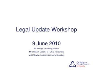 Legal Update Workshop