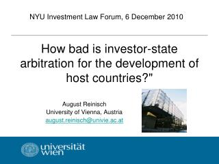 How bad is investor-state arbitration for the development of host countries