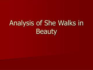Analysis of She Walks in Beauty
