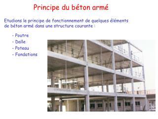 Principe du b ton arm