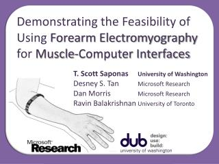 Demonstrating the Feasibility of Using Forearm Electromyography for Muscle-Computer Interfaces