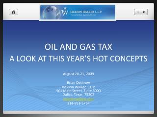 oil and gas tax
