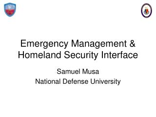 Emergency Management  Homeland Security Interface
