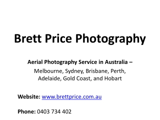 Aerial photography services in Australia (Melbourne, Sydney)