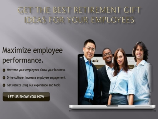 Get the Best Retirement Gift Ideas for Your Employees