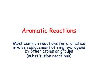 Electrophilic Aromatic Substitution Bromination of Toluene