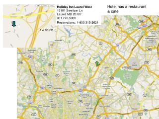powerpoint with maps for holiday inn laurel west