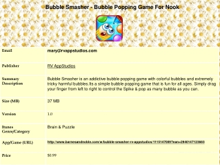 Bubble Smasher - Bubble Popping Game For Nook