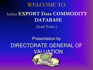 Indian Export Data, Indian Export Ports, India Export Custom Duty