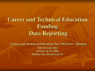 career and technical education funding