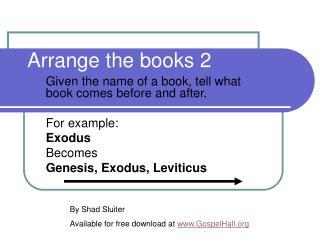 Arrange the books 2