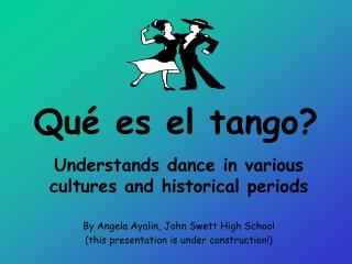 Qu  es el tango