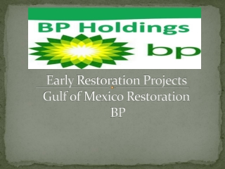 Early restoration projects: Gulf of Mexico restoration: BP –