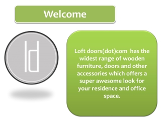 Wooden Barn Door hardware and accessories for Customized loo