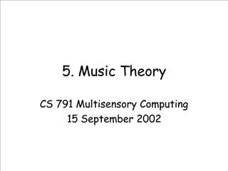 5. Music Theory