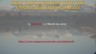 Help Your Business with the Unsecured Line of Credit