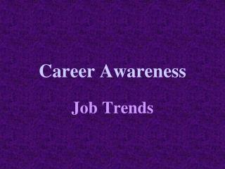career awareness