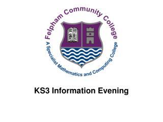 ks3 information evening