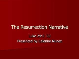 The Resurrection Narrative
