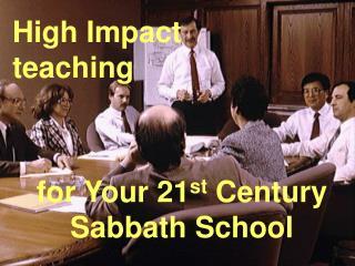 The Development and Training of Adult Sabbath School Teachers