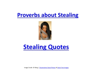 Proverbs about Stealing