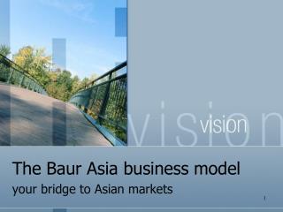The Baur Asia business model