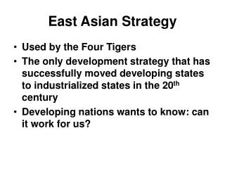 East Asian Strategy