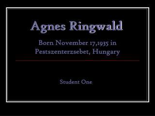 Agnes Ringwald