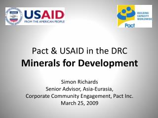 Pact  USAID in the DRC Minerals for Development