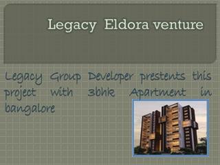 Eldora apartment Bangalore 9999620966