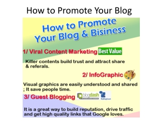 How to Promote Your Onine Business and Blog