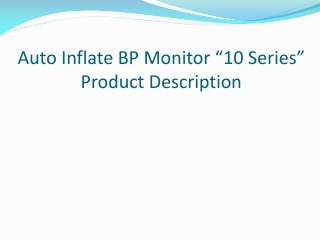 Auto Inflate BP Monitor �10 Series�