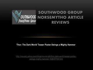 Southwood Group Norsemytho Article Reviews: 'Thor: The Dark