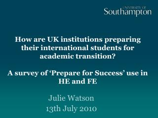 how are uk institutions preparing their international students for academic transition