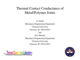 Thermal Contact Conductance of Metal