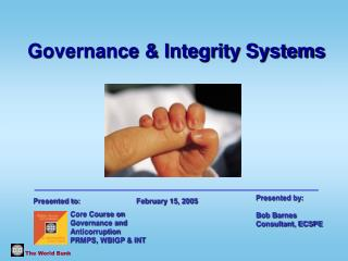 Why Does Good Governance, Ethics and Integrity Matter