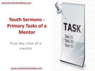 Youth Sermons - Primary Tasks of a Mentor