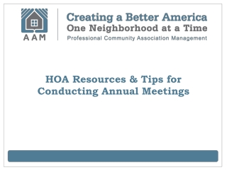 HOA Resources & Tips for Conducting Annual Meetings