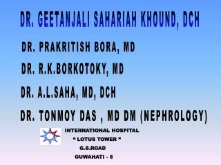 DR. GEETANJALI SAHARIAH KHOUND, DCH