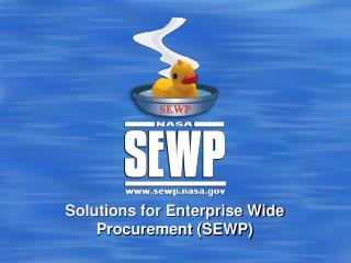Solutions for Enterprise Wide Procurement SEWP