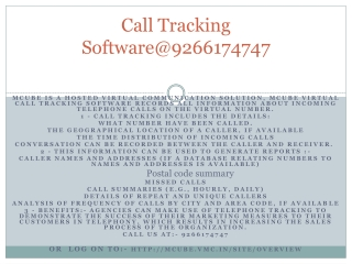 Call Tracking Software@9266174747