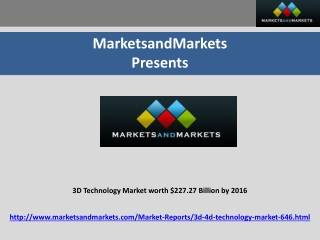 3D Technology Market