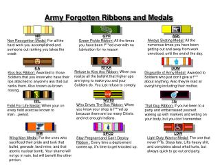 Army Forgotten Ribbons and Medals