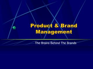 Product  Brand Management