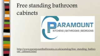 Free standing bathroom cabinets