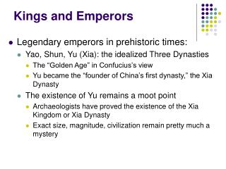 Kings and Emperors